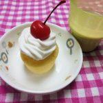 お誕生日カップケーキ・スキムミルクココア